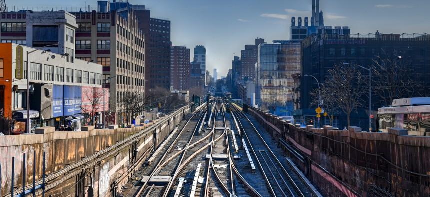 The 135th street subway station in Manhattan.