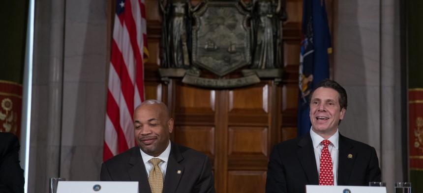 Gov. Andrew Cuomo and Assembly Speaker Carl Heastie in 2015.