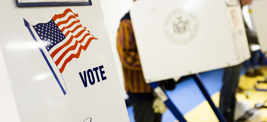 New York City Voters cast their ballots in the 2018 midterm general election at a polling site in Brooklyn