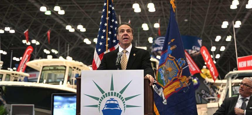 Governor Andrew Cuomo in January.
