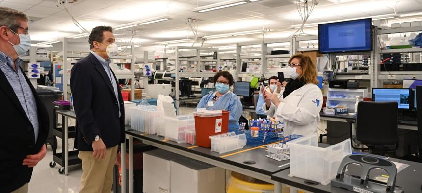 Andrew Cuomo Northwell Health lab