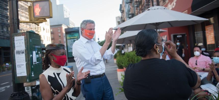 Bill de Blasio NYC reopening