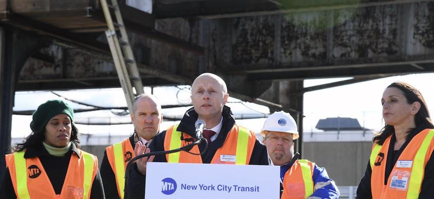 Former New York City Transit President Andy Byford.