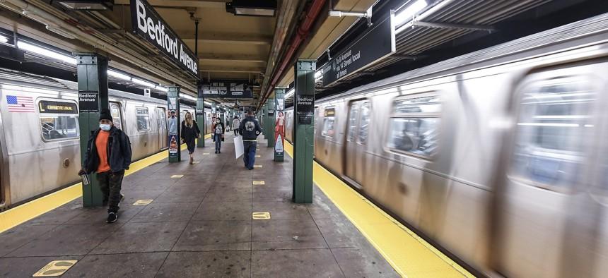 Bedford Avenue Subway stop.