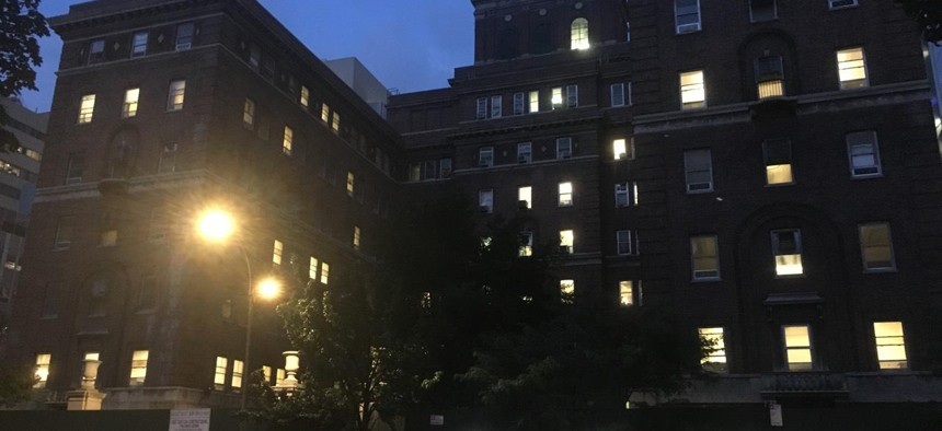 The 30th Street Men's Shelter in the former Bellevue Hospital building