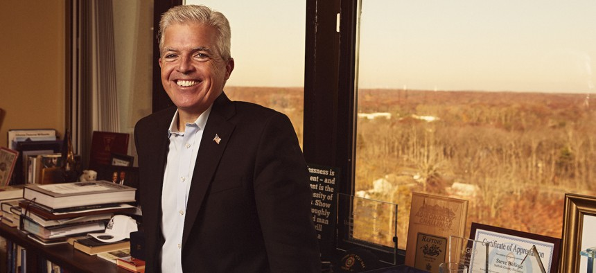 Steve Bellone is in charge of the state's most populous county outside New York City.