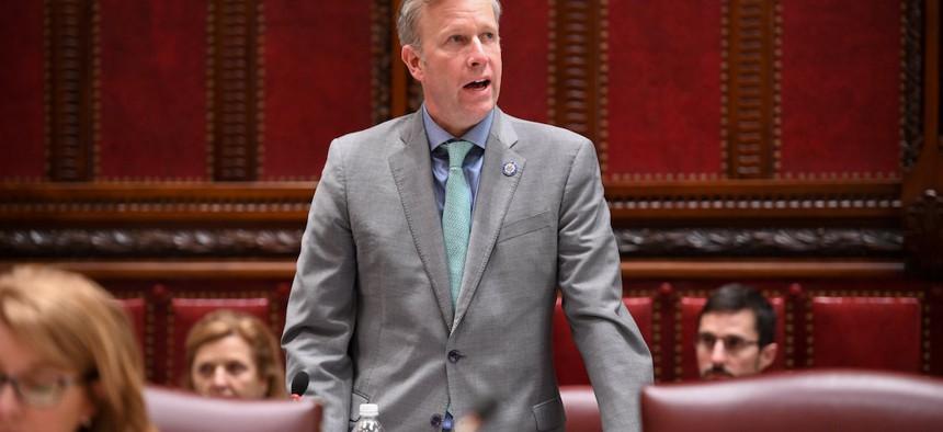 NY State Senator Chris Jacobs during Senate Session last year.