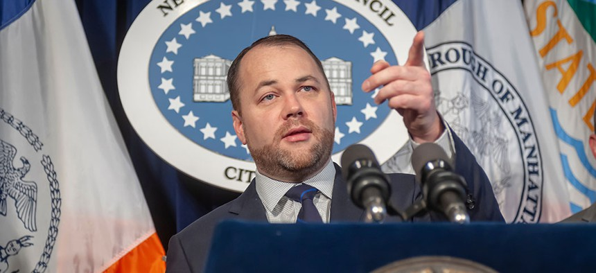 Speaker Corey Johnson says he's concerned about the impact paid vacation will have on small businesses.
