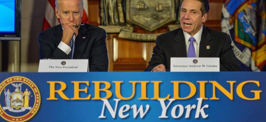 Democratic presidential nominee Joe Biden and Governor Andrew Cuomo.