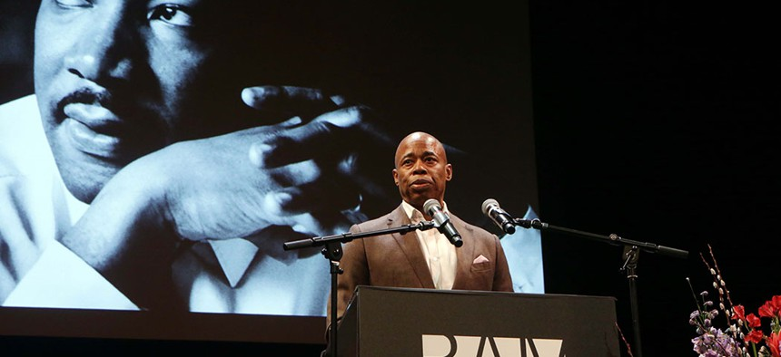 Brooklyn Borough President Eric Adams at the 34th Annual Brooklyn Tribute to Dr. Martin Luther King, Jr.