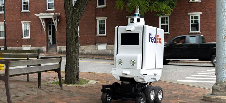 FedEx's autonomous delivery robot.