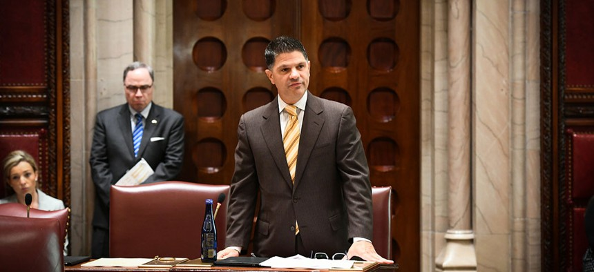 State Sen. George Amedore announced he would not seek re-election.