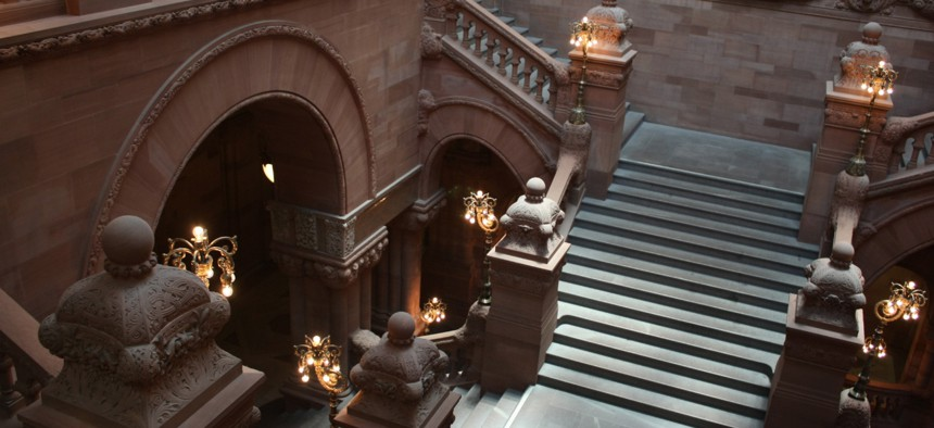 The Million Dollar staircase in Albanys capitol