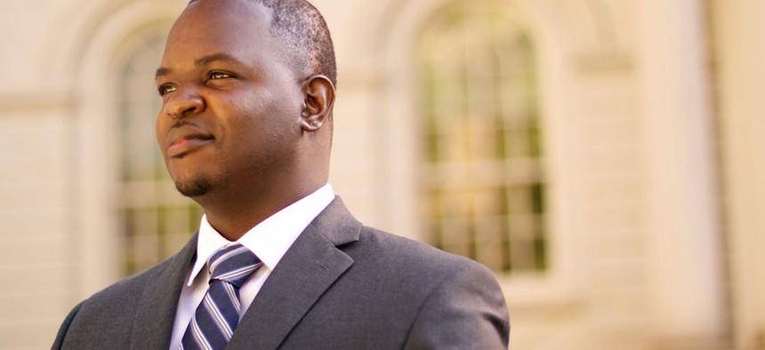 Josue Pierre, state Sen. Kevin Parker's challenger.