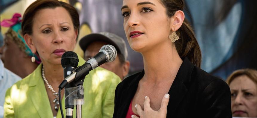 State Senate candidate Julia Salazar