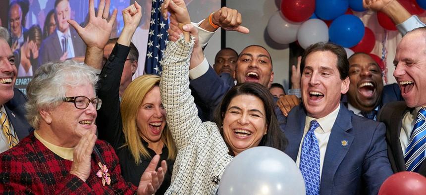 New York state Senators Ann Kaplan and Todd Kaminsky