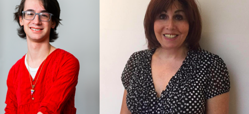 Emilia Decaudin (left) and Melissa Skalrz (right) became the first openly trans people to become Democratic district leaders in New York City.