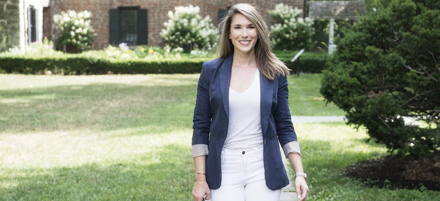 Michelle Hinchey, daughter of late U.S. Rep. Maurice Hinchey, is hoping to turn the 46th state senate district blue this year.