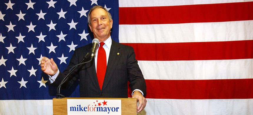 Michael Bloomberg in September, 2001 as the Republican mayoral candidate.