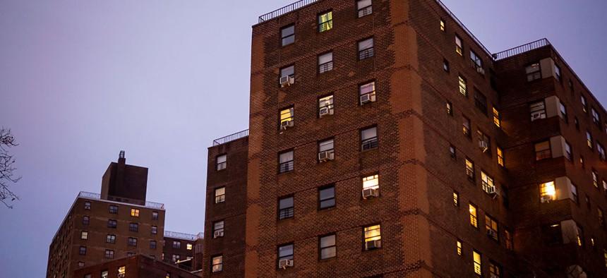 NYCHA Elliot Houses complex in Chelsea.