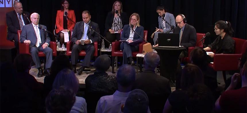 "Queens DA hopefuls debate the issues on WNYC's ""The Brian Lehrer Show"" on June 12."