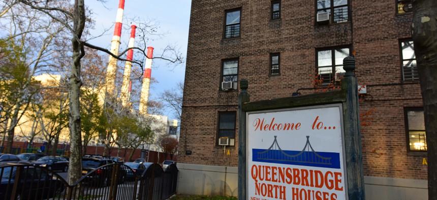 A building in the New York City Housing Authority's Queensbridge public housing development.