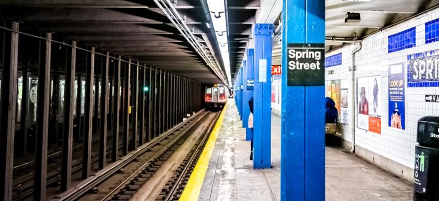 Spring Street subway station in Manhattan