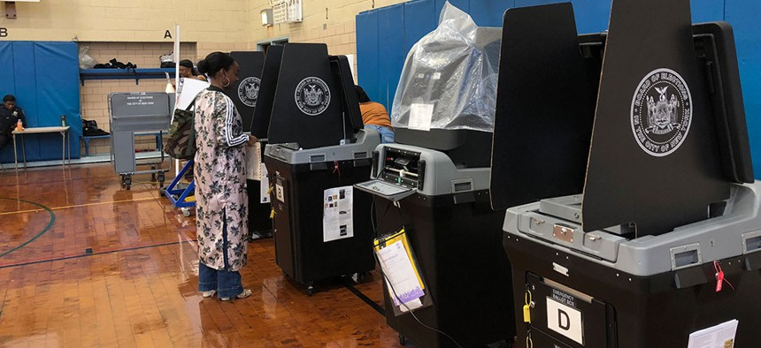 New York City voting machines.