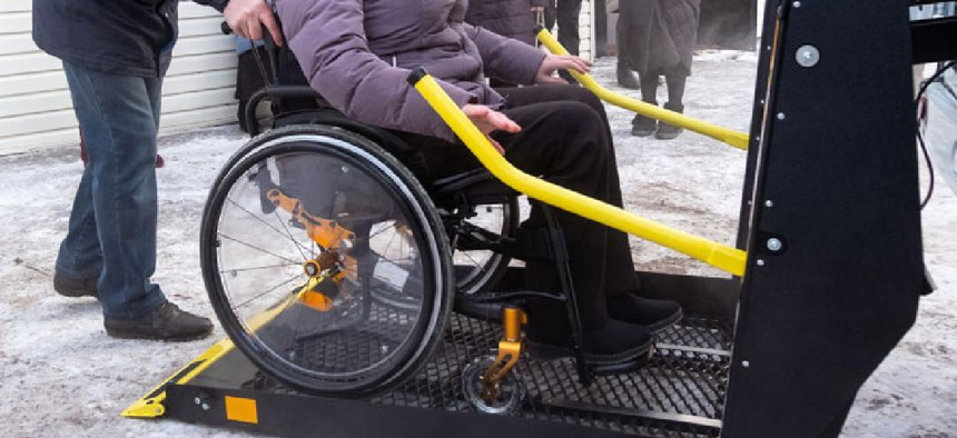 An accessible vehicle.