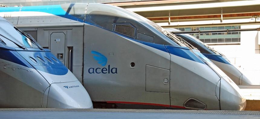 The Acela high-speed rail in Washington D.C.