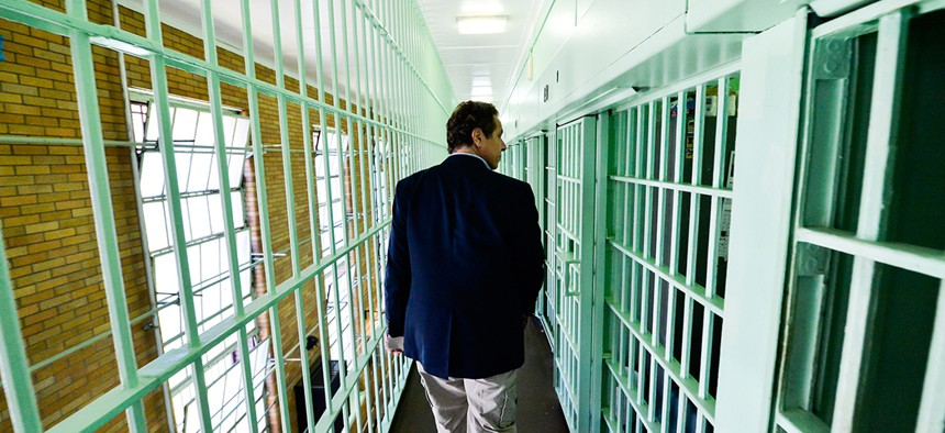 Governor Andrew Cuomo tours Clinton Correctional Facility in Dannemora.