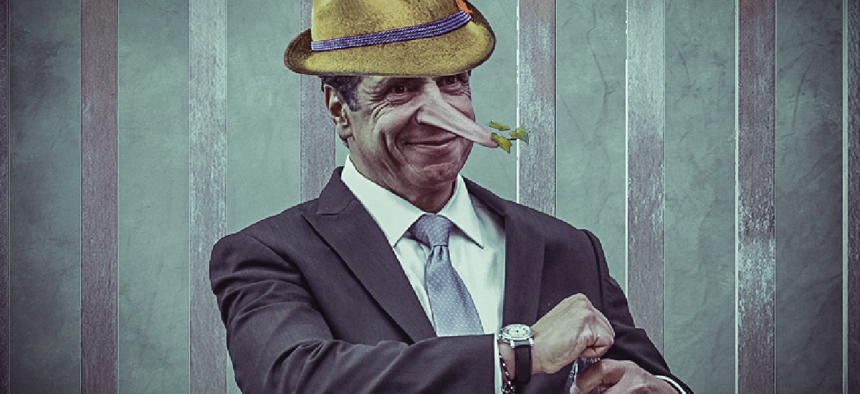 Andrew Cuomo as Pinocchio