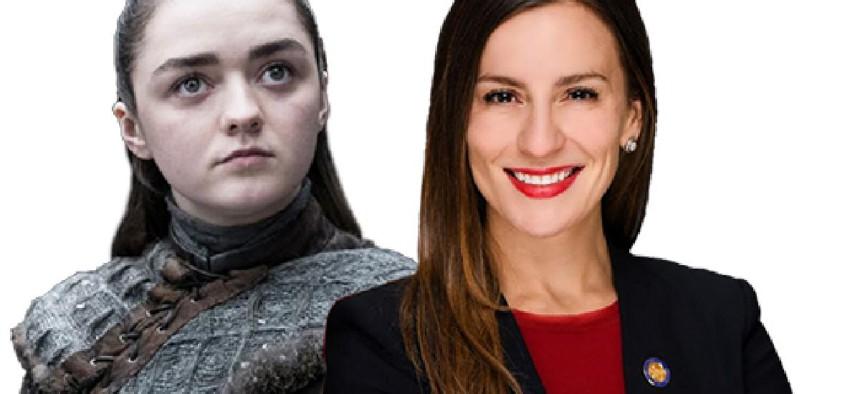 Arya Stark and Alessandra Biaggi.