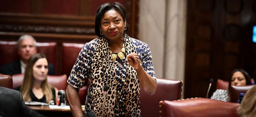 State senate Majority Leader Andrea Stewart-Cousins.