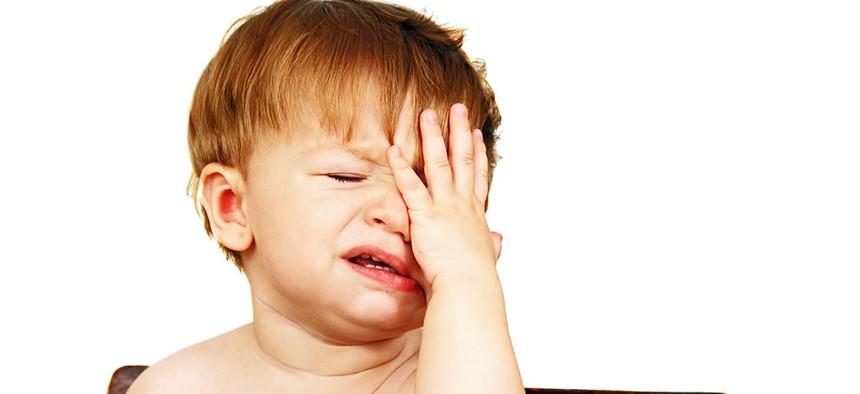 An irritated baby.