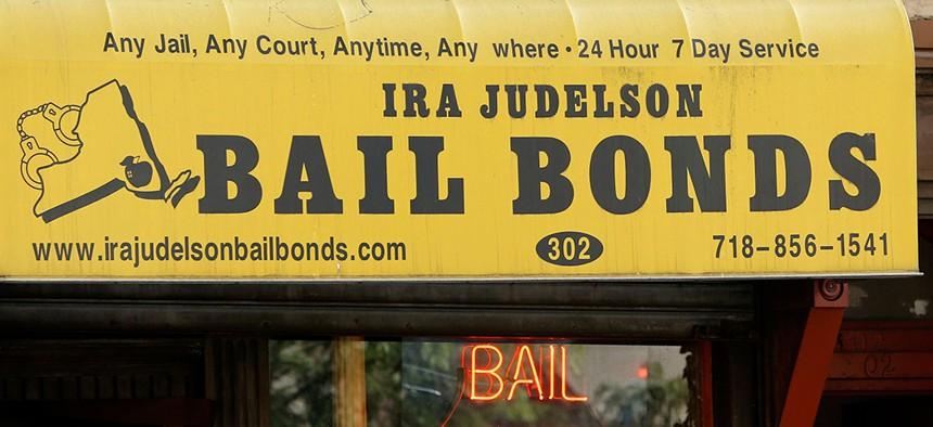 A bail bonds business along Atlantic Avenue in Brooklyn.