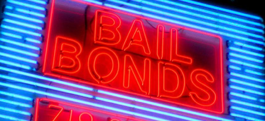 A bail bonds office in Brooklyn near the Brooklyn House of Detention.