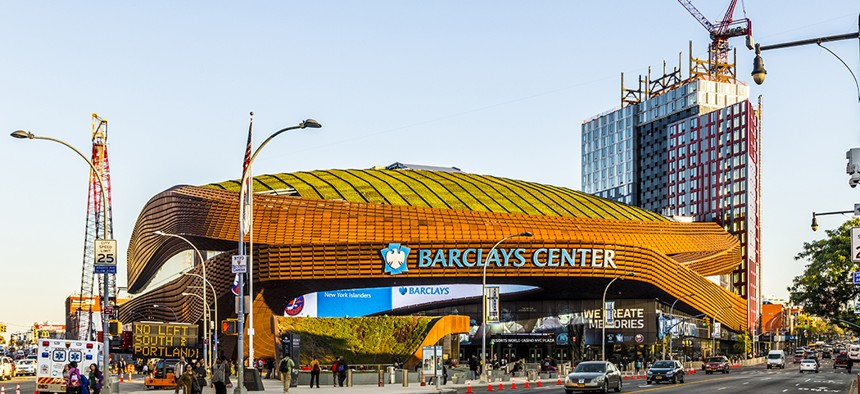 The green roof of the Barclays Center was the largest ever to cover a sporting venue upon its completion in 2012.