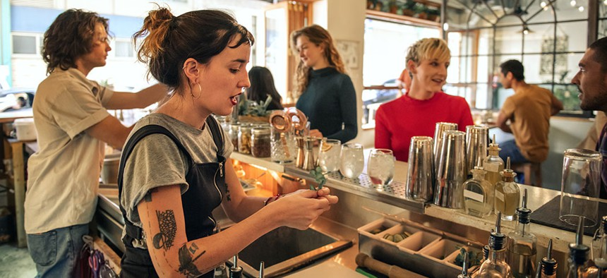 Bartenders are among the many different workers not eligible for the $15 minimum wage in New York.