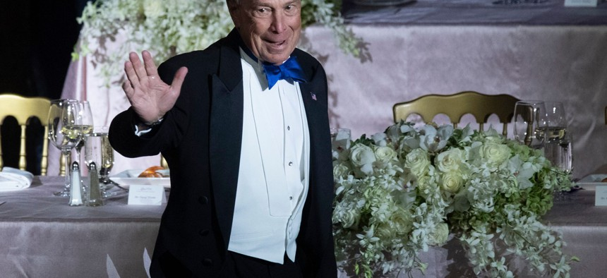Michael Bloomberg at the 2019 Al Smith dinner