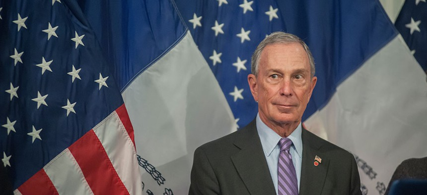 Michael Bloomberg in City Hall.