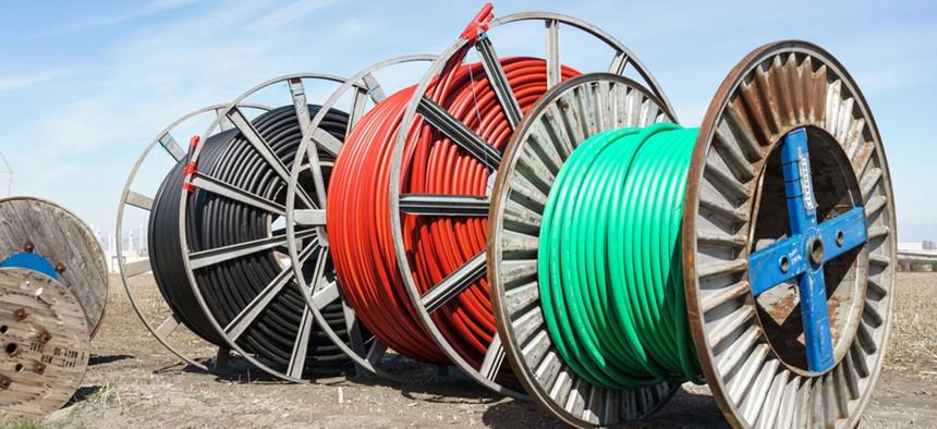 Broadband cables.