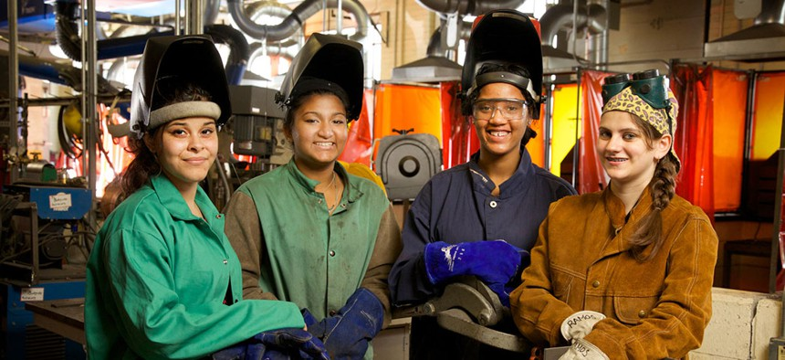Students can be trained in skills like welding at Buffalo's Northland Workforce Training Center.