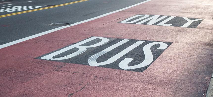 A New York City bus lane.