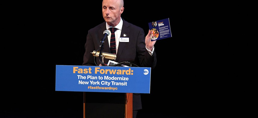 New York City Transit chief Andy Byford in August 2018.