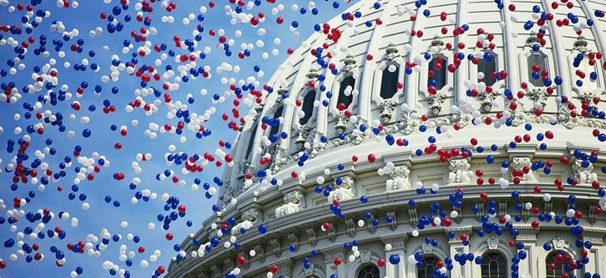 U.S. Capitol building during the Constitution Bicentennial celebration.