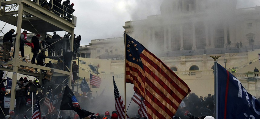Pro-Trump rioters swarmed the United States Capitol on Wednesday.