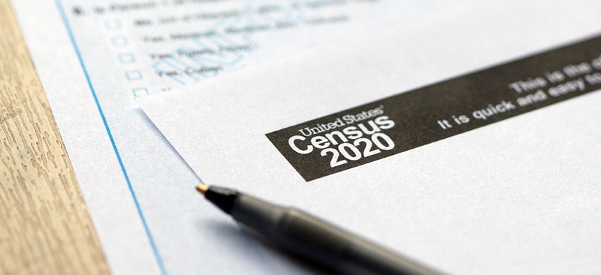 The United States Census 2020 form.