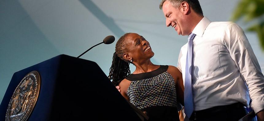 New York City's power couple, Chirlane McCray and Mayor Bill de Blasio.