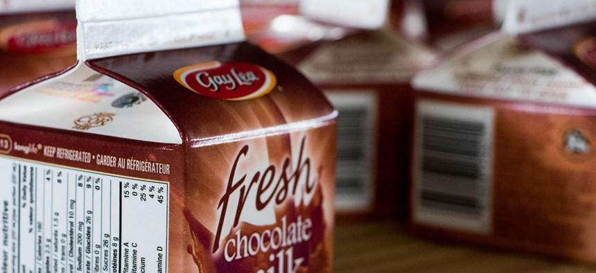 Chocolate milk.